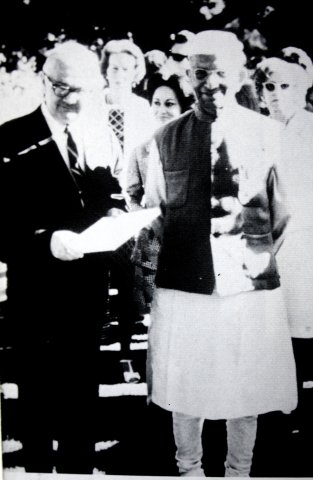 Hugh Lynn Cayce with Prime Minister of India Dr. Nehru